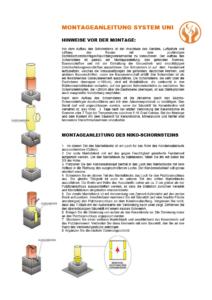 Montageanleitung system UNI