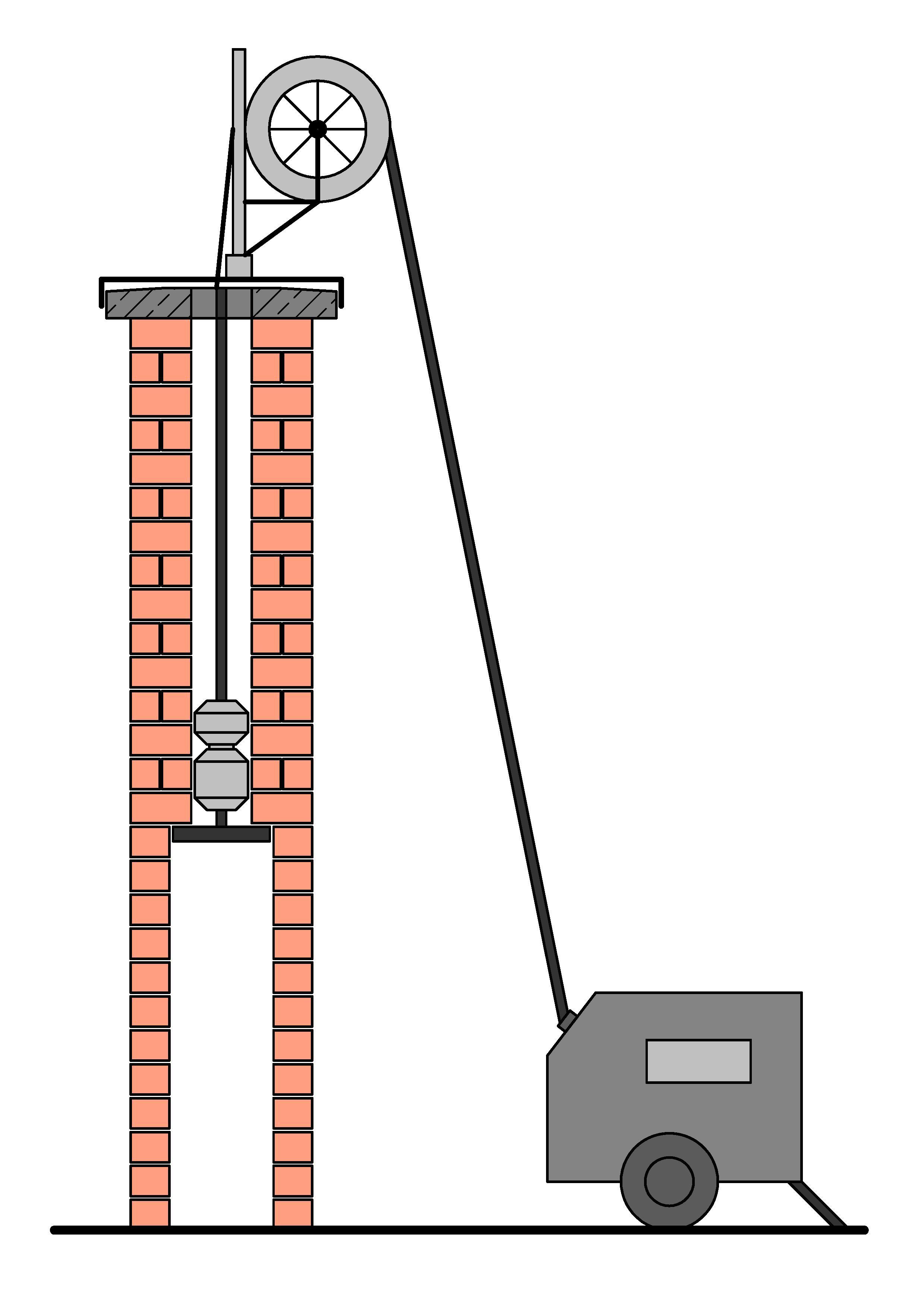 Ausfräsen vom Schornstein auf 200mm inkl. Sanierung mit Edelstahlrohren DN200mm, Stahl 1.4404, Stärke 0,6mm (Querschnitterweiterung, Schornsteinsanierung, Sanierung vom Schornstein)